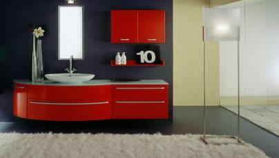 Gallo edilizia shop - Mobile bagno rosso ...
